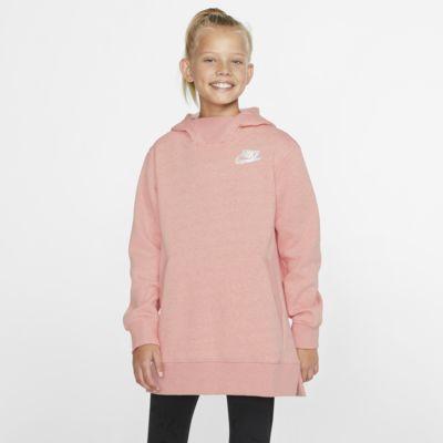 Nike Sportswear fleeceoverdel til store barn (jente)