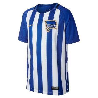 Camiseta de fútbol para niños talla grande Hertha BSC de local para aficionados, temporada 2017/18