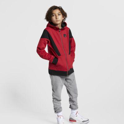 Rozpinana bluza z kapturem dla dużych dzieci (chłopców) Jordan Flight Lite