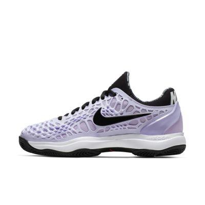 Женские теннисные кроссовки для грунтовых кортов NikeCourt Zoom Cage 3, Purple Agate/Белый/Невероятный темно-красный/Черный, 22845368, 12544878  - купить со скидкой