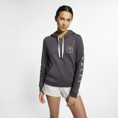 Felpa pullover in fleece con cappuccio Hurley Combo Swells - Donna