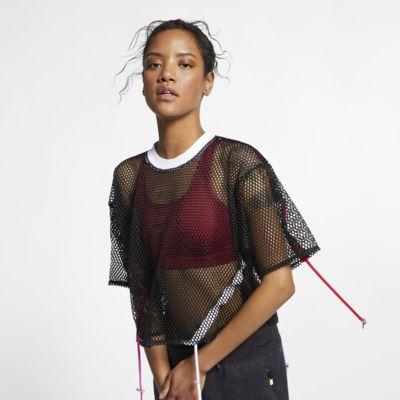 Nike Sportswear Damestop van mesh met korte mouwen