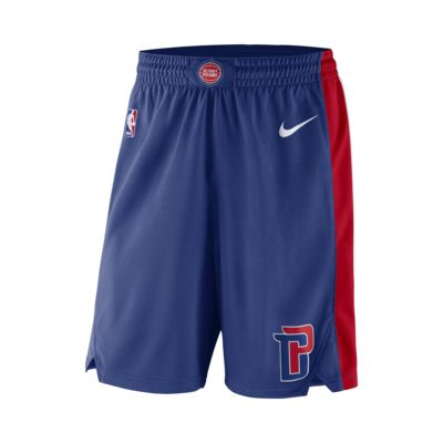 Shorts de NBA para hombre Detroit Pistons Nike Icon Edition Swingman