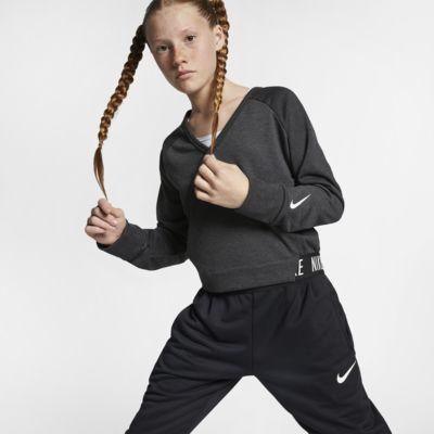 Prenda para la parte superior de entrenamiento reversible de manga larga para niña talla grande Nike