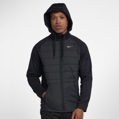 Męska bluza z kapturem z zamkiem na całej długości Nike Therma Winterized