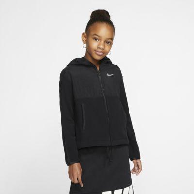 Nike Therma Tam Boy Fermuarlı Genç Çocuk (Kız) Kapüşonlu Antrenman Üstü