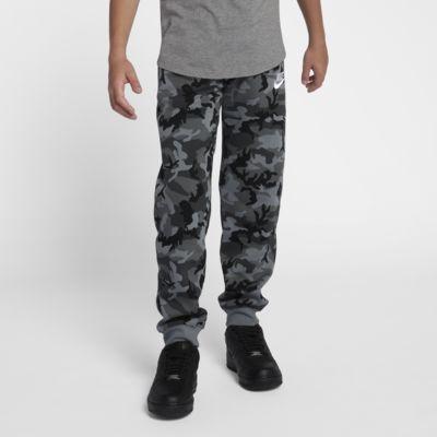 Pantalones de entrenamiento estampados para niños talla grande Nike Sportswear Club Fleece