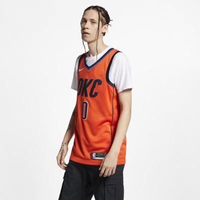 Camisola com ligação à NBA da Nike Russell Westbrook Earned City Edition Swingman (Oklahoma City Thunder) para homem