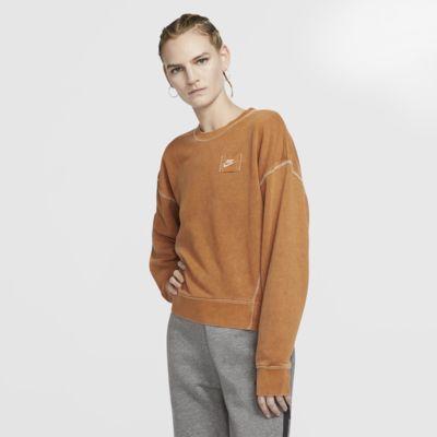 Nike Sportswear női franciafrottír kerek nyakkivágású pulóver