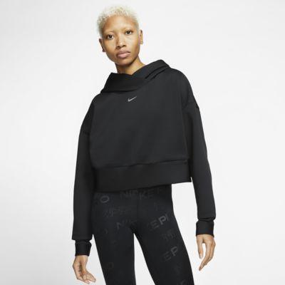 Nike Pro fleecehettegenser til dame