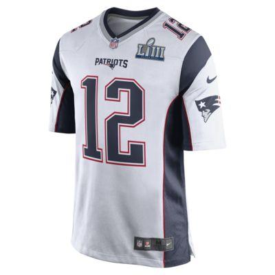 NFL New England Patriots Super Bowl LIII (Tom Brady) Men's Game Football Jersey