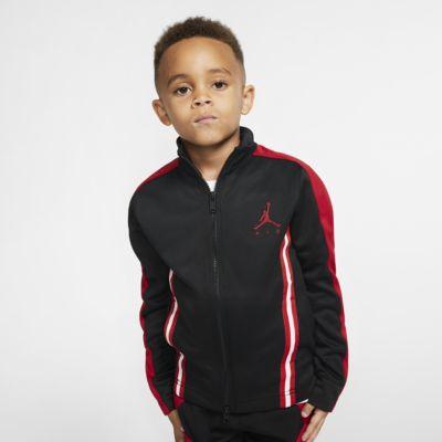 Air Jordan-jakke med lynlås i fuld længde til små børn