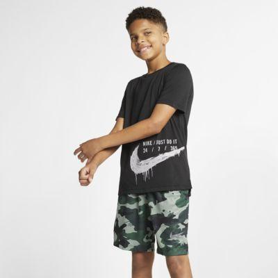 Prenda superior de entrenamiento manga corta para niños talla grande Nike Breathe