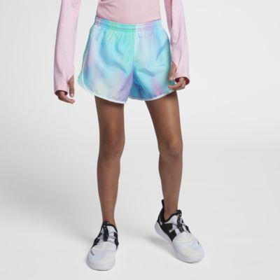 กางเกงวิ่งขาสั้นเด็กโตพิมพ์ลาย Nike Tempo (หญิง)