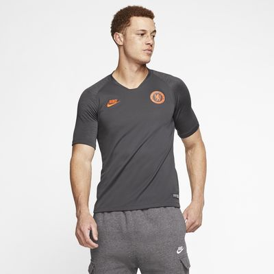 Camisola de futebol de manga curta Nike Breathe Chelsea FC Strike para homem