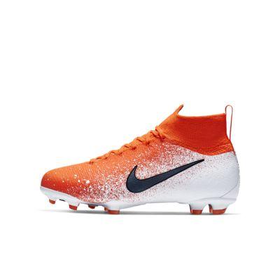 Купить Футбольные бутсы для игры на твердом грунте школьников Nike Jr. Superfly 6 Elite FG, Невероятный темно-красный/Белый/Черный, 22856741, 12545856