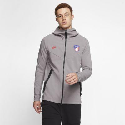 Męska bluza z kapturem i zamkiem na całej długości Atlético de Madrid Tech Pack