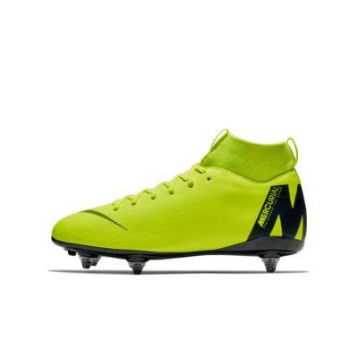 Calzado de fútbol para terreno suave para niños talla pequeña y grande Nike Jr. Mercurial Superfly VI Academy SG-PRO