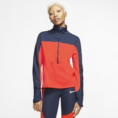 Top de running con cierre de 1/2 para mujer Nike Repel