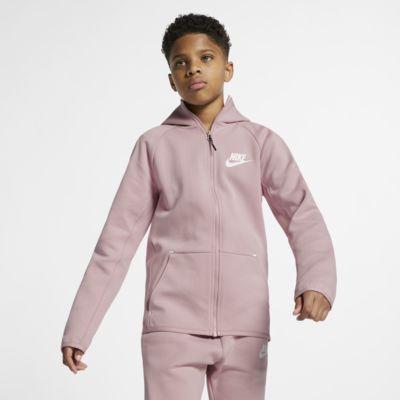 Jacka Nike Sportswear Tech Fleece med dragkedja för ungdom