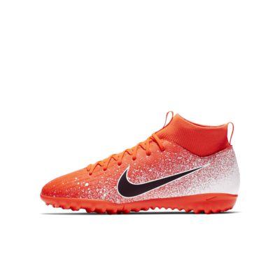 Calzado de fútbol para césped deportivo artificial (turf) para niños talla pequeña/grande Nike Jr. Mercurial Superfly 6 Academy TF