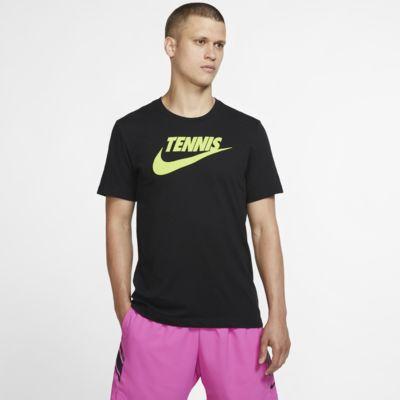 NikeCourt Dri-FIT tennis-T-skjorte med trykk til herre