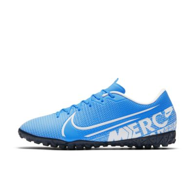 Футбольные бутсы для игры на синтетическом покрытии Nike Mercurial Vapor 13 Academy TF, Легендарный синий/Обсидиан/Белый, 23200335, 12627343  - купить со скидкой
