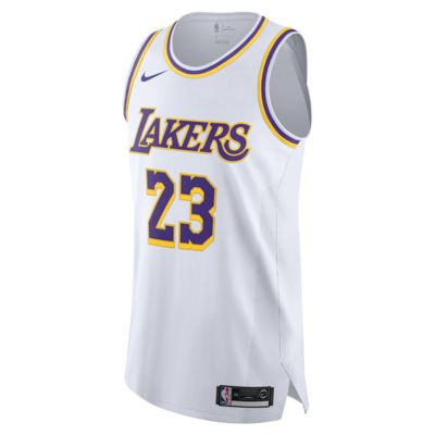 LeBron James Association Edition Authentic (Los Angeles Lakers) Men's Nike NBA Connected Jersey
