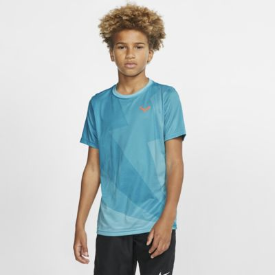 Tenisové tričko Rafa pro větší děti (chlapce)