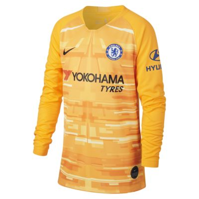 Chelsea FC 2019/20 Stadium Goalkeeper Older Kids' Football Shirt
