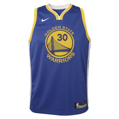 Stephen Curry Golden State Warriors Nike Icon Edition Swingman Big Kids' NBA Jersey