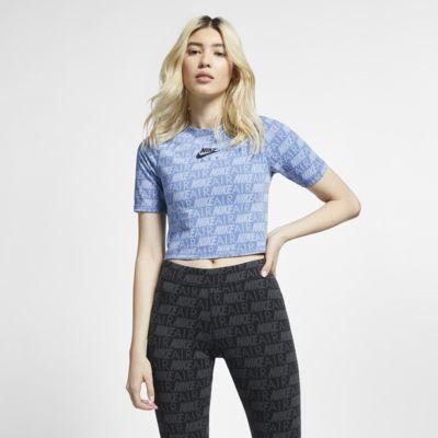 Kortärmad tröja med tryck Nike Air för kvinnor