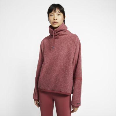 Nike Therma Camiseta de entrenamiento de manga larga de tejido Fleece - Mujer
