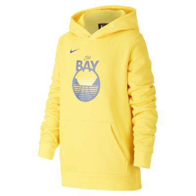 Mikina Nike NBA Warriors Statement Edition Logo s kapucí pro větší děti