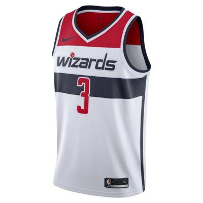 Camiseta conectada Nike NBA para hombre Bradley Beal Association Edition Swingman Jersey (Washington Wizards)