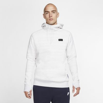 Paris Saint-Germain-pullover-hættetrøje i fleece til mænd