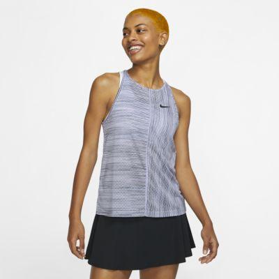 Damska koszulka tenisowa bez rękawów z nadrukiem NikeCourt
