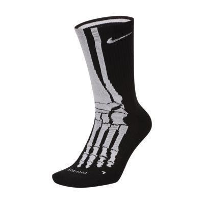 ถุงเท้าเทรนนิ่งข้อยาวลายโครงกระดูก Nike Everyday Plus