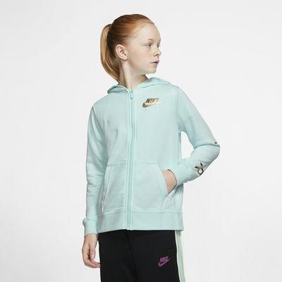 Nike Air Fleece-Hoodie mit durchgehendem Reißverschluss für ältere Kinder (Mädchen)