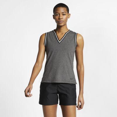 Dámská golfová polokošile bez rukávů Nike Dri-FIT