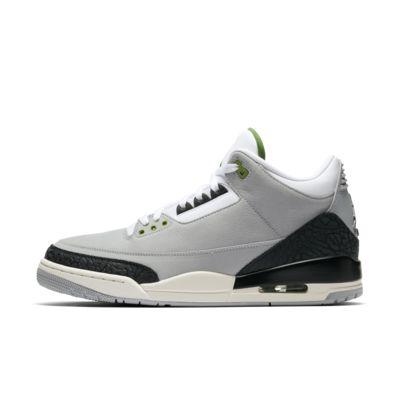 89f2f081 Купить Мужские кроссовки Air Jordan 3 Retro, Light Smoke Grey/Черный/Белый/