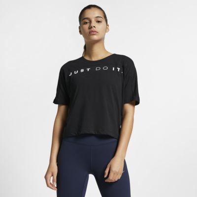 เสื้อวิ่งแขนสั้นผู้หญิง Nike Dri-FIT Miler