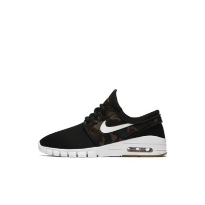 Nike SB Zoom Stefan Janoski Boys Skateboarding Shoes Black/Brown/White uQ1638E
