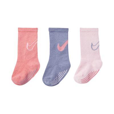 Nike Track Gripper Tall Sokken voor baby's/peuters (3 paar)