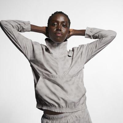 Nike Dri-FIT Women's 1/2-Zip Printed Running Jacket