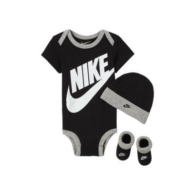 Nike Sportswear Infant Bodysuit, Beanie and Booties Box Set