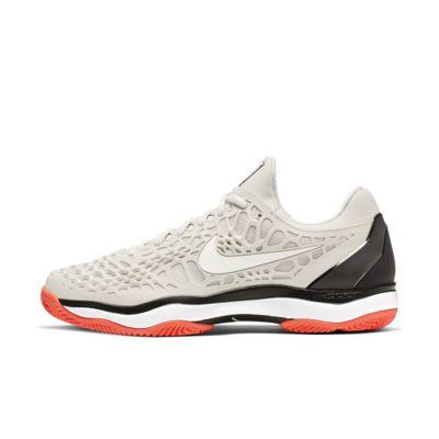 Мужские теннисные кроссовки для грунтовых кортов NikeCourt Zoom Cage 3, Светлый костяной/Черный/Горячая лава/Светлый костяной, 23380210, 12647858  - купить со скидкой