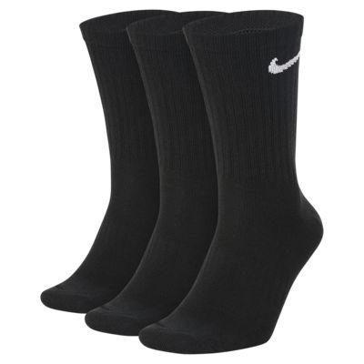 Lätta träningsstrumpor Nike Everyday Crew för män (3 par)