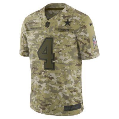 NFL Dallas Cowboys Salute to Service Limited Jersey (Dak Prescott) Men's Football Jersey