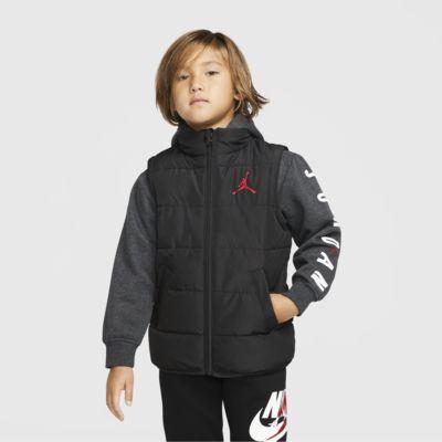Prošívaná bunda Jordan Jumpman se zipem po celé délce pro malé děti